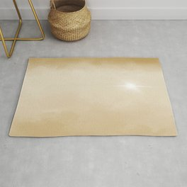 Hope Above the Clouds 6 Gold Yellow Tan Beige Cream - Abstract Art Series Rug