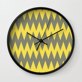 Green and Yellow Zigzag Pattern Pantone 2021 Color of the Year Illuminating 13-0647  Wall Clock