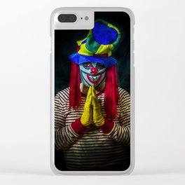 A Prayer for the Clowns Clear iPhone Case
