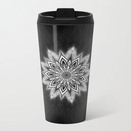 Black Ice Mandala Swirl Metal Travel Mug