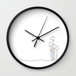 Mushroom Illsutration II Wall Clock