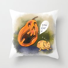 Kitty watch out! Throw Pillow