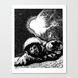 Astro Zombie Canvas Print