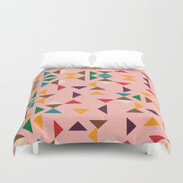 Triangle mod pink Duvet Cover