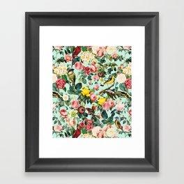 Floral and Birds III Framed Art Print