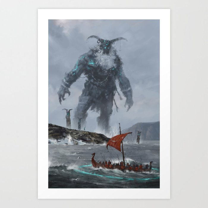 at the edge of the world Art Print