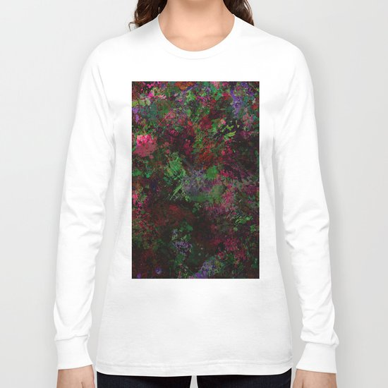 Purple Warfare - Abstract purple, pink, green and black abstract Long Sleeve T-shirt