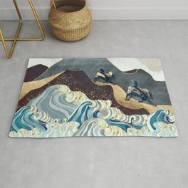Metallic Waves Rug
