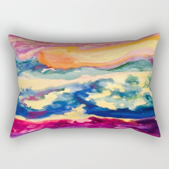 My Starry Watercolor Night Rectangular Pillow