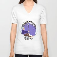 jack frost V-neck T-shirts featuring Jack Frost Circlet by Z Doodle