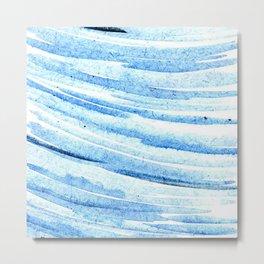 Blue Swish #2 Metal Print