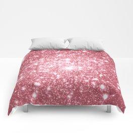 Pink Sparkle Stars Comforters