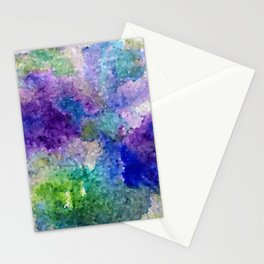 Abstract Crystals Stationery Cards