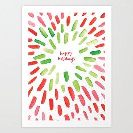Happy Holidays Christmas Party Art Print