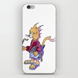 Cat of Anarchy iPhone Skin