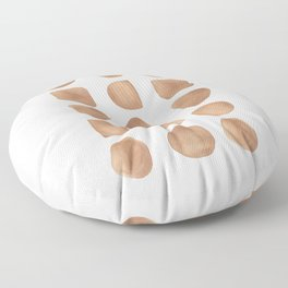 Brown Shapes Floor Pillow