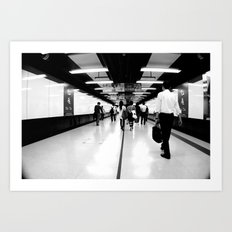 Underground [Black & White] Art Print