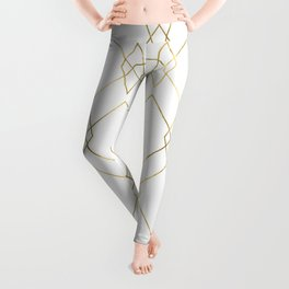 Gold Geometric Leggings