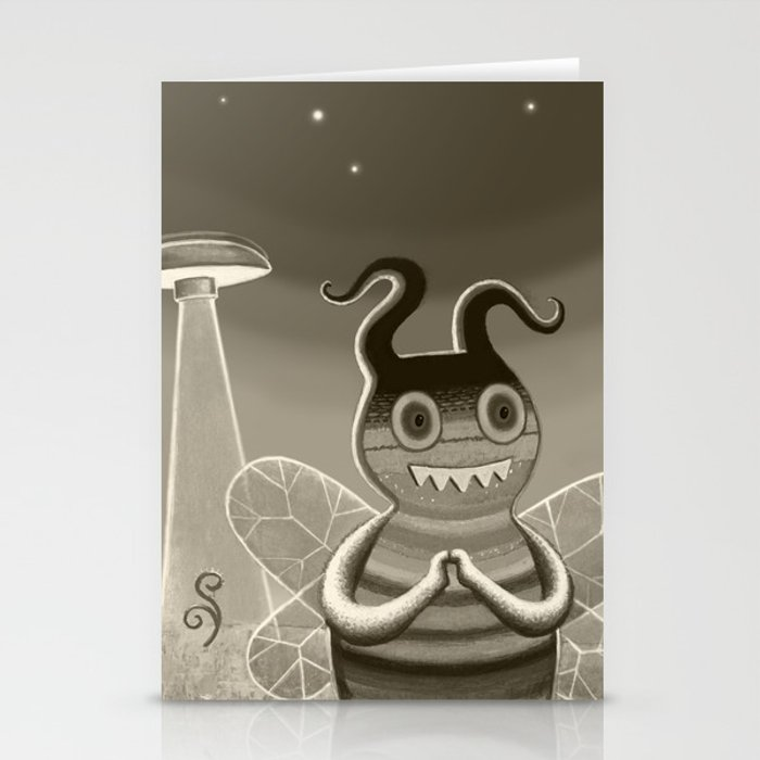 bee movie noir Stationery Cards