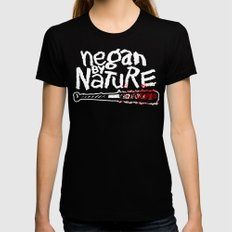 Negan by Nature Black Womens Fitted Tee SMALL
