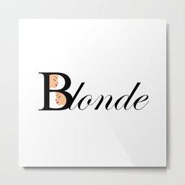 Beautiful blonde women Metal Print