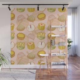 Dimsum everywhere! [peach] Wall Mural
