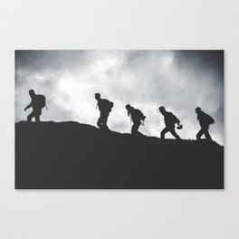 Streat walkers in the mountain Canvas Print