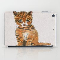whisky iPad Cases featuring Whisky, the Kitty by Gersin@Albatrostudio