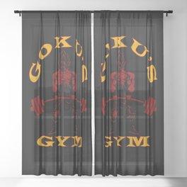 Saiyan Gym Sheer Curtain
