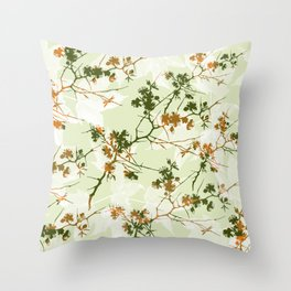 Leaves 08 Throw Pillow