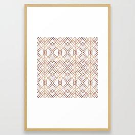 Copper Geo Framed Art Print