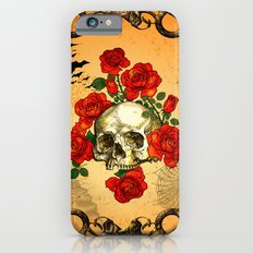 Skull with roses iPhone 6s Slim Case