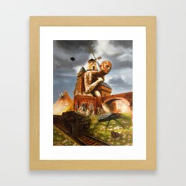 The Man in the Castle (illustration from my painting manual Fantastic realism) Framed Art Print
