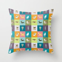 Who let the dogs out? Throw Pillow