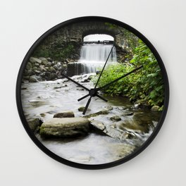 Small Waterfall Wall Clock