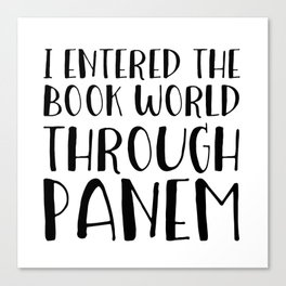 I Entered The Book World Through V5 Canvas Print