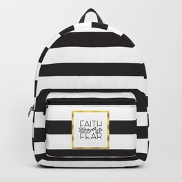 Faith Over Fear Quote Backpack