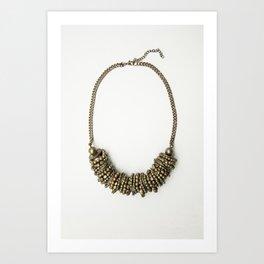 Mongolian gold necklace Art Print