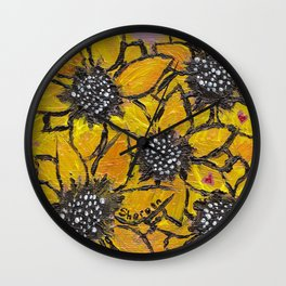 Sun-smiles Wall Clock