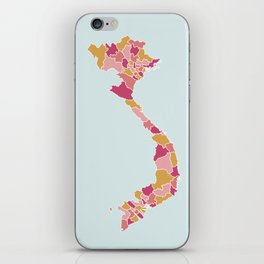 Vietnam map iPhone Skin