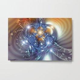 Borg (Orange) Metal Print