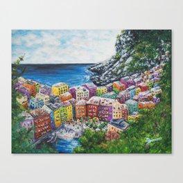Cosy Cove from Cinque Terre, Italia Canvas Print