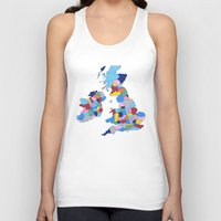 scotland Tank Tops featuring England, Ireland, Scotland & Wales by Project M