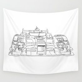 race car drawing Wall Tapestry