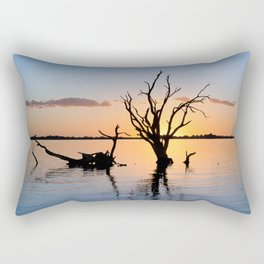 Sunset Silhouette Rectangular Pillow