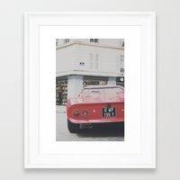 ferrari Framed Art Prints featuring ferrari by remo