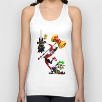 harley Tank Tops featuring Harley Quinn by The Art of Eileen Marie