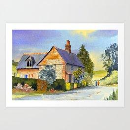 Cottage At Coleshill Village Art Print