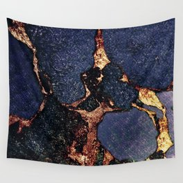 GEMSTONE & GOLD INDIGO Wall Tapestry