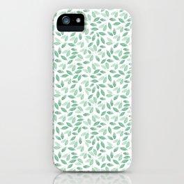 Minimalist Leaves foliage iPhone Case